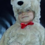 Mason is as a cute as a teddy bear!