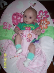 Caroline at 3 months