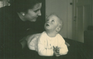 Jaap and his mother1957