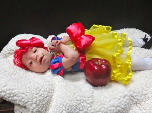 Evelyn is Snow White for her first Halloween!