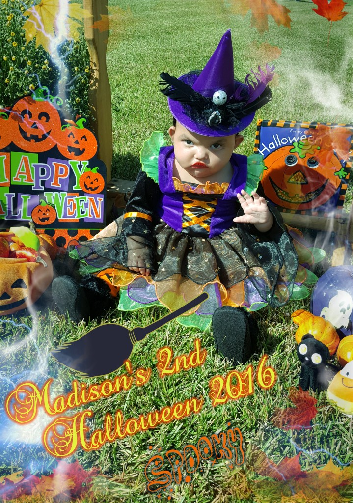 Madison the cute Little Witch!